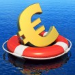 Financial crisis in Europe concept — Stock Photo