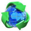 Stock Photo: Recycling and environment protection concept
