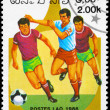 LAOS - CIRCA 1986 Soccer scene — Stock Photo