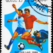 LAOS - CIRCA 1986 World Cup Soccer — Stock Photo