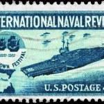 USA - CIRCA 1957 Aircraft Carrier — Stock Photo