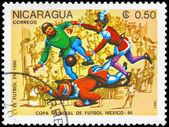 NICARAGUA - CIRCA 1985 History of Soccer — Stock Photo
