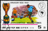NORTH KOREA - CIRCA 1978 Uruguay World Cup Winners — Stock Photo