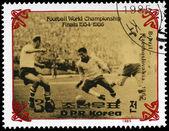 NORTH KOREA - CIRCA 1985 Final of World Cup — Stock Photo