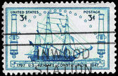 USA - CIRCA 1947 Frigate Constitution — Stock Photo