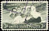 USA - CIRCA 1948 Four Chaplains — Stock Photo