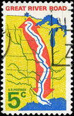 USA - CIRCA 1966 Great River Road — Stock Photo