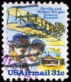 USA - CIRCA 1978 Wright Brothers — Stock Photo