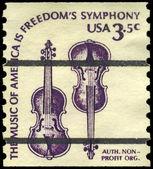 Eua - circa 1980 violinos — Foto Stock