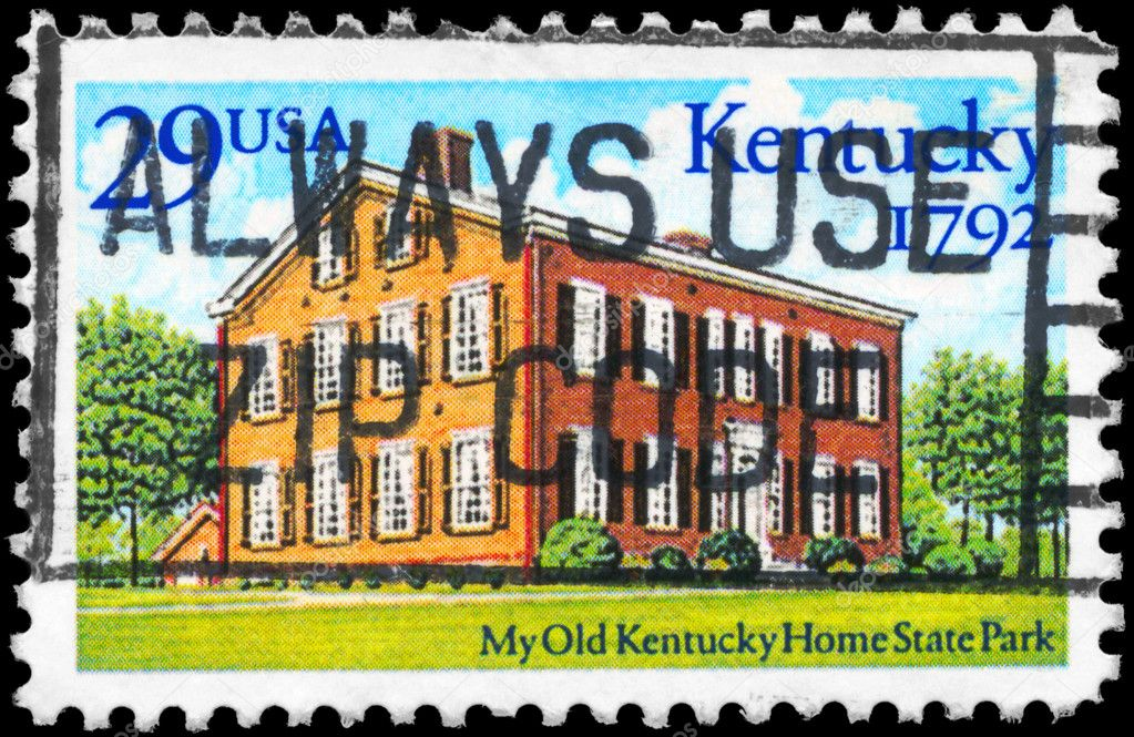 USA - CIRCA 1992: A Stamp printed in USA shows Kentucky Home State Park, Statehood Bicentennial, circa 1992 — Stock Photo #11079442