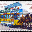 AUSTRALIA - CIRCA 1989 Horse-drawn Tram — Stock Photo
