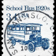 USA - CIRCA 1985 School Bus - Stock Photo