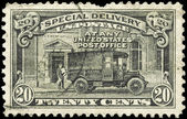 Usa - intorno al 1925 post office camion — Foto Stock