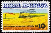 Amerika birleşik devletleri - 1974 alanları ve tren yaklaşık — Stok fotoğraf
