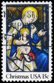 Usa - ca 1980 Madonnan och barnet — Stockfoto
