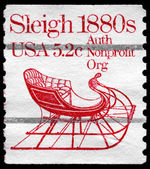 USA - CIRCA 1981 Sleigh — Stock Photo