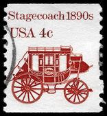 USA - CIRCA 1981 Stagecoach — Stock Photo