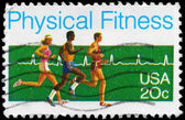 USA - CIRCA 1983 Physical Fitness — Stock Photo