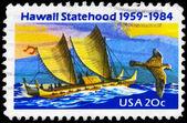 USA - CIRCA 1984 Polynesian Canoe — Stock Photo