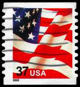 Usa - circa 2002 flagga — Stockfoto