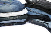 Jeans on white — Stock Photo