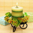 Candle and present boxes — Stock Photo #10741141