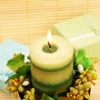 Candle and present boxes — Stok fotoğraf #10741146