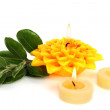 Yellow candles - 图库照片
