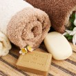 Towels and soap - Foto de Stock
