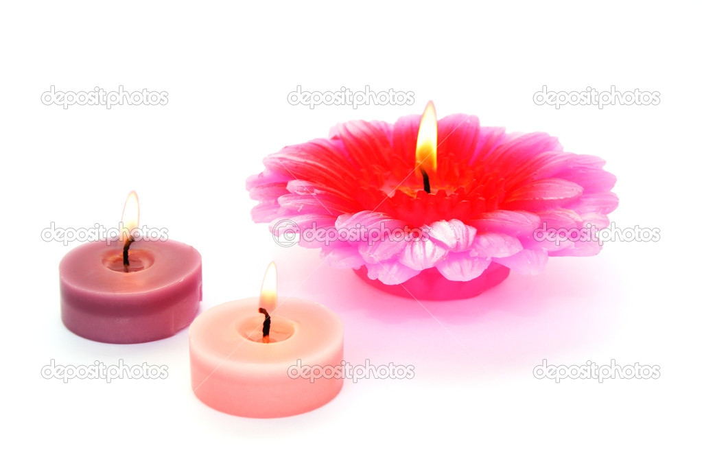 Colorful  candles isolated on white background.  Stock Photo #10740725