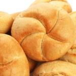 Bread on white — Stock Photo