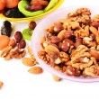 Dried fruits and nuts — Foto de Stock