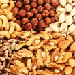 Nuts background — Stock Photo #10763451