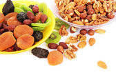 Dried fruits and nuts — Stock fotografie