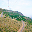 Landscape view from ropeway altitude — Stock Photo