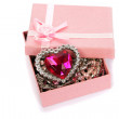 Royalty-Free Stock Photo: Gift box with red heart