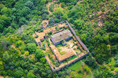 Ancient monastery view from altitude — Stock Photo