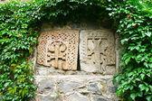 Khachkars or cross-stones — Stock Photo