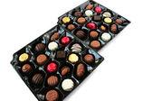 Chocolade in vak — Stockfoto