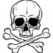 Skull and Crossbones — Vector de stock