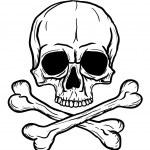 Skull and crossbones — Stockvector