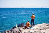 Bosphorus fishing — Stock Photo
