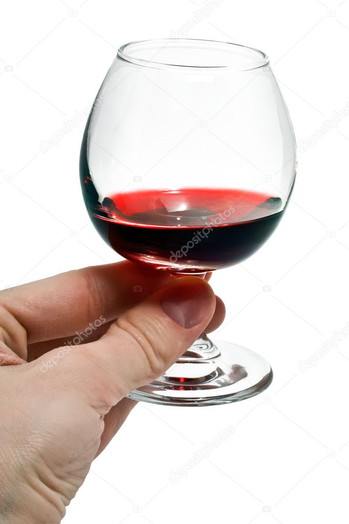 A small glass of red wine — Stock Photo #11101290