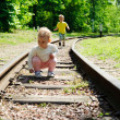 Children on rails — Stock Photo #11109260