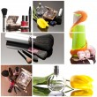 Cosmetics collage — Stock Photo