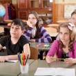 Schoolchildren at classroom during a lesson — Stock Photo #11692335