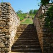 Old stone stairs to the vineyards - Stock Photo