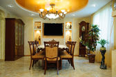 Luxury dining room interior — Стоковое фото