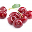 Sweet ripe cherry with leaf — Stock Photo #10997315