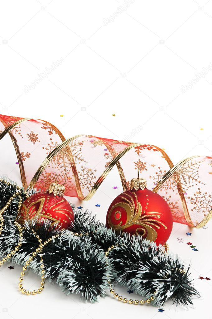 Christmas decoration  isolated on white background — Stok fotoğraf #11982000